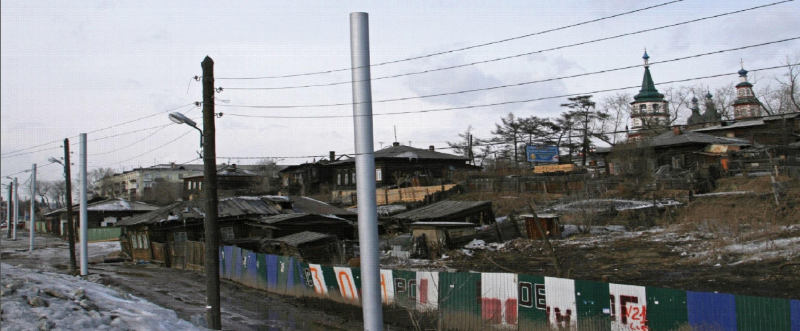 <p>Так 130 квартал Иркутска выглядел в октябре 2009 года...<br /> (из презентации Ю.Перелыгина)</p>